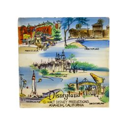 Disneyland 5-Lands Hand-Painted Ceramic Tile.