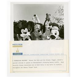 Disneyland Characters Promotional Photo.