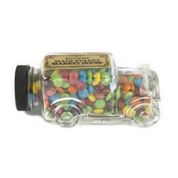 """Main Street Market House"" Glass Vehicle Candy Jar."