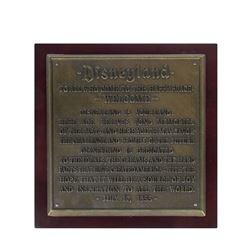 Disneyland Dedication Plaque Limited Edition Replica.