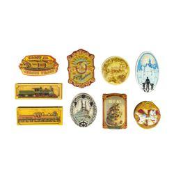 Collection of (9) Olszewski Attraction Trinket Boxes.