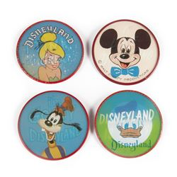 Collection of (4) Disneyland Lenticular Buttons.