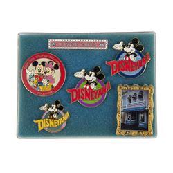 "Set of (6) ""Disneyana Shop"" Limited Edition Pins."