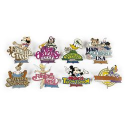 "Collection of (8) Disneyland ""Lands"" Pins."