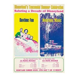 Disneyland's Tencennial Celebration Ticket Poster.