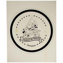 """Original """"America on Parade"""" Collectible Plate Logo Design."""