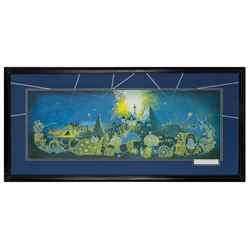 """Signed Boyer """"Main Street Electrical Parade"""" Print."""