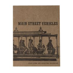 """Main Street Vehicles"" Cast Member Booklet."