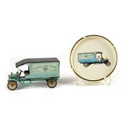 Disneyland Global Van Lines Toy Truck & Ashtray.