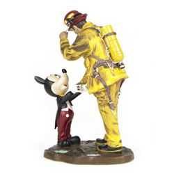 """A Disney Tribute to Fire Fighters"" Boyer Statue & Pin."