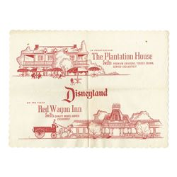 "Swift's ""Plantation House"" & ""Red Wagon Inn"" Placemats."