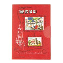 """Carnation Ice Cream Parlor"" Souvenir Miniature Menu."