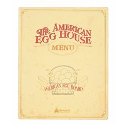 """The American Egg House"" Menu Cover."