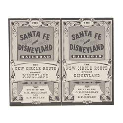 """Santa Fe & Disneyland Railroad"" Brochure."