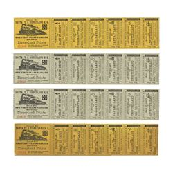 Collection of (4) Disneyland Railroad Ticket Strips.