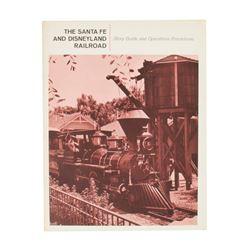 """""""Santa Fe & Disneyland R.R."""" Operator's Guide."""