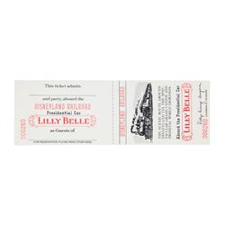 "Lilly Belle Presidential Car ""Disneyland R.R."" Ticket."