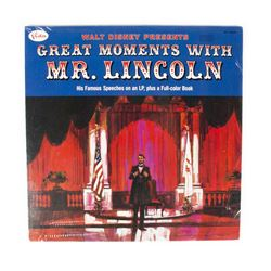 "Unopened ""Great Moment with Mr. Lincoln"" Record."