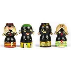 Collection of (4) Adventureland Salt & Pepper Shakers.