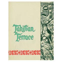 """""""Tahitian Terrace"""" Restaurant Menu."""
