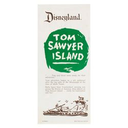 """Explorer's Map of Tom Sawyer Island"" Brochure."