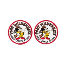 "Pair of ""Fort Wilderness"" Frontier Mickey Patches."
