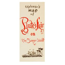 """Pirate's Lair on Tom Sawyer Island"" Explorer's Map."