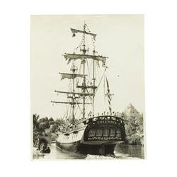 """Sailing Ship Columbia"" Black & White Photo."