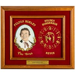 "Fulton Burley ""Golden Horseshoe"" Retirement Award."