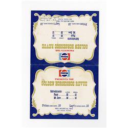 """Golden Horseshoe Revue"" Pepsi Table Card."