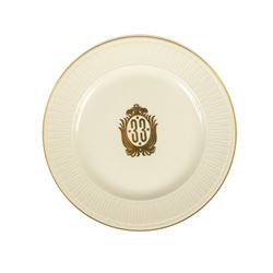 """""""Club 33"""" Charger Plate."""