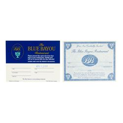 """Pair of """"Blue Bayou"""" Reservation Cards."""