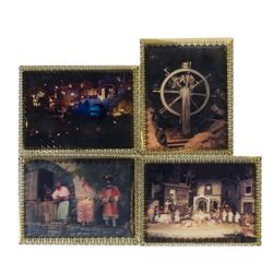 """Set of (4) """"Pirates of the Caribbean"""" Lenticular Cards."""