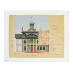 """""""Haunted Mansion"""" East Elevation Limited Edition."""