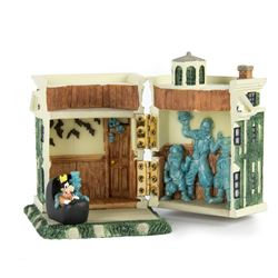 """""""Haunted Mansion"""" Hinged Resin Box with Figure."""