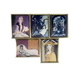 """Collection of (5) """"Haunted Mansion"""" Lenticular Cards."""