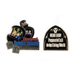 """Pair of """"Haunted Mansion"""" 30th Anniversary Pins."""