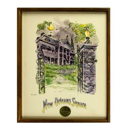"""Haunted Mansion"" Hand-Painted Original Artwork."