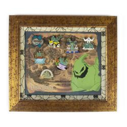 """Oogie Boogie's Ghost Walk"" Framed Pin Set."
