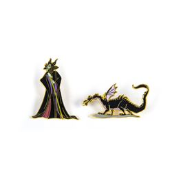 "Maleficent & Dragon ""Sleeping Beauty"" Pins."