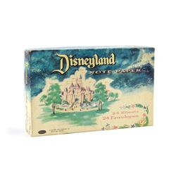 Opening-Year Disneyland Note Paper in Box.