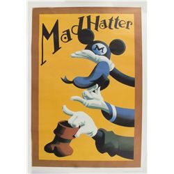 """""""Mad Hatter"""" Souvenir Shop Linen Poster."""