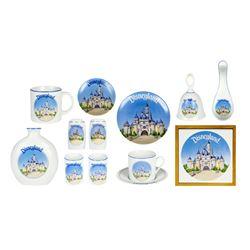 14-Piece Sleeping Beauty Castle Ceramic Set.