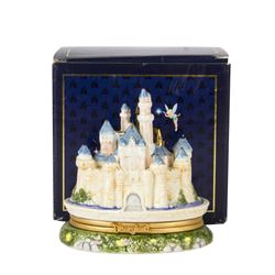 Sleeping Beauty Castle Porcelain Hinged Box.