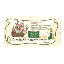 "Chicken of the Sea ""Pirate Ship Restaurant"" Placemat."