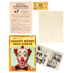 """Collection of """"Mickey Mouse Club Circus"""" Souvenirs."""