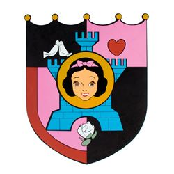 """""""Snow White's Scary Adventures"""" Attraction Shield."""