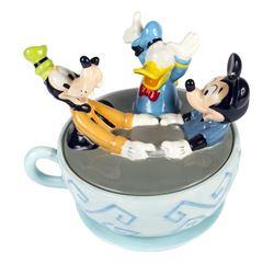 """Mad Tea Cups"" Ceramic Cookie Jar."