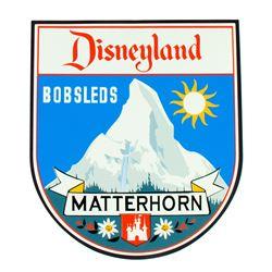 """Matterhorn Bobsleds"" Limited Ed Attraction Shield."