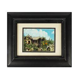 """Fantasyland """"Skyway Chalet"""" Framed Postcard."""